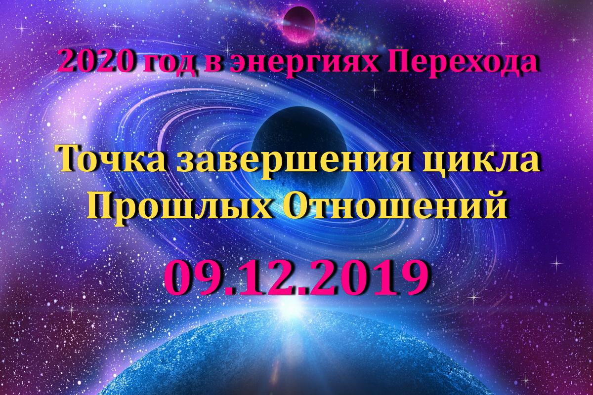 9.12.2019 - точка завершения 2-го цикла – цикла Прошлых отношений